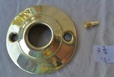 """2 3//16/"""" dia Polished Ogee Stamped BRASS ONE door knob rosette Per Each"""