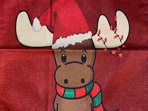 Moose Christmas Toss Throw Pillow Cover Holiday Home Decor