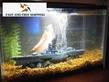 Battleship Aquarium Ornament Fish Tank Decoration Beautiful Boat Coral Decor NEW