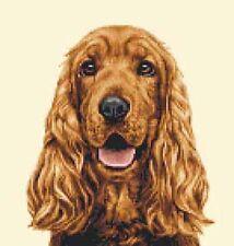 GOLDEN COCKER SPANIEL dog - FULL counted cross stitch kit