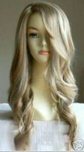 AU025 New fashion long curly blonde wig hair wigs for women