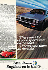 1982 Alfa Romeo Gtv6 Spider - Classic Vintage Advertisement Ad D01