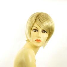 Perruque femme courte blond doré méché blond très clair  ALINE 24BT613