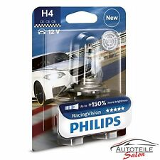 Philips RacingVision H4 bis zu 150% mehr Licht Halogenlampe 12342RVB1 Stück