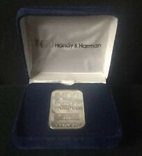 1 oz Handy & Harmon .999 Silver Bar In Company Gift Box Very Rare