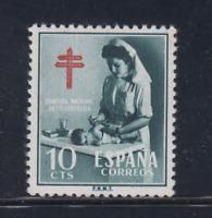 ESPAÑA (1953) MNH NUEVO SIN FIJASELLOS SPAIN - EDIFIL 1122 (10 cts) TUBERCULOSOS