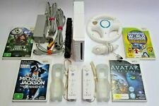 Nintendo Wii BUNDLE +4 GAMES +2 Controllers+ MORE *Tested* - Aus Seller :)
