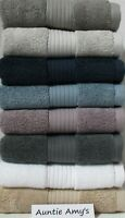 Ralph Lauren Bowery Thick Hand Towels~Medium Blue~Lilac~Grey Stone~Court Gray