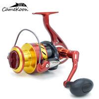 CAMEKOON Saltwater Spinning Fishing Reel 11+1 Bearings High Speed Large Sea Reel