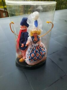 Poupée folklorique régionale couple Normand vintage boite