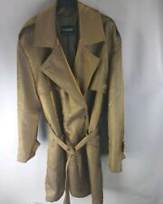 BRAEFAIR Gold Trench Coat Size 14 LARGE Goth Punk