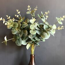 Bunch Artificial Eucalyptus. Realistic Silk Flowers / Faux Greenery - Large