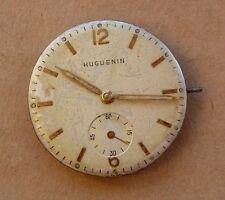 Gents Huguenin watch movement #810, running well, 27mm dial.