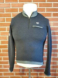 Pearl Izumi Wool Blend Mens Small Long Sleeve 1/4 Zip Pullover Cycling Jersey