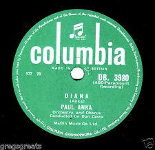 "UK No.1 1957 PAUL ANKA 78 "" DIANA / DON'T GAMBLE WITH LOVE "" COLUMBIA DB 3980 E-"