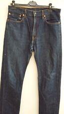 jeans uomo Levi's 505 taglia W 34 L 34 chiusura cerniera