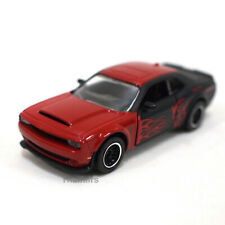 DODGE Challenger SRT Demon Red with Flames Majorette Racing Cars 238C 1:64 2019