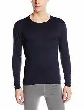 $50 32 Degrees Heat Mens Long Sleeve Thermal Crew Neck T Shirt Blue Base Layer S