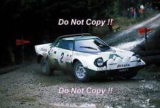 Bjorn Waldegard ALITALIA LANCIA STRATOS HF RAC Rally 1975 Fotografia