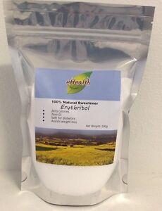 Erythritol 500g - 100% Natural Sweetener - Zero Calories & Zero GI