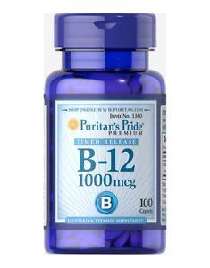 Puritan's Pride Vitamin B-12 1000mcg Timed Release 100 caplets Puritans Energy