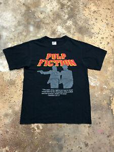 VINTAGE 2004 Pulp Fiction Miramax T-Shirt M Anvil Quentin Tarantino Black Small