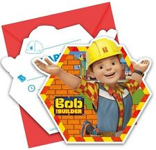 BOB THE BUILDER PARTY INVITATIONS FOR 6 GUESTS WITH ENVELOPES PARTY SUPPLIES