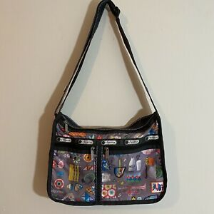 Lesportsac Deluxe Everyday Crossbody Bag Rare print Adjustable strap