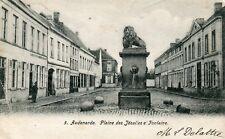 Belgium Audenarde Oudenaarde Plaine des Jesuites et Fontaine 1907 uncommon view
