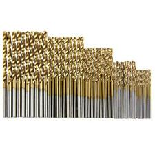 50Pcs Twist Drill Bits HSS High Steel Titanium Saw Drilling Bits Wood Metal Tool
