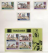 Tanzania 1978 mondiali di calcio serie cpl e BF nuova integra MNH T617
