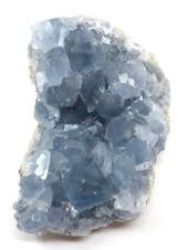 1  Madagascar Celestite Crystal Druzy Cluster Sky Blue Geode Mineral (7 - 12 oz)