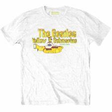 Mens The Beatles Yellow Submarine White T-Shirt - Unisex Music Tee