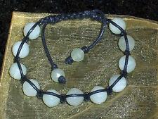 Light Jade Genuine Stone Balance Shamballa Style Bracelet