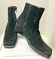 d50ba7dcb6a Aerosoles Women s Boots Sz 8.5 Black Suede Wedge Heels Side Zip