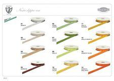 Nastro doppio raso 3 mm rotolo bobina da 50 mt vari colori fai da te decorazione