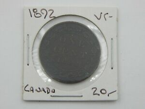 1892 Canada Large Cent Coin VF