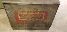 Vintage Metal Service Center Sorenson Automotive Ignition Display Storage Box