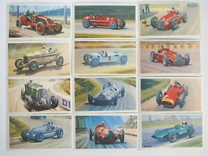 Collectible 1971 Trading - Mobil - The Story Of Grand Prix Motor Racing 12 Cards