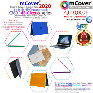 """NEW CLEAR mCover® HARD CASE for 14"""" HP Chromebook X360 14b-CAxxxx series Laptop"""