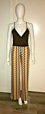 NWOT SOLD OUT MISSONI x TARGET BROWN ZIG ZAG CHEVRON SEXY CATSUIT JUMPSUIT XS