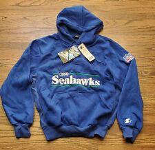 Vintage New Seattle Seahawks Starter Proline Authentic Hoodie Sweatshirt Large L