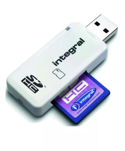 Integral Dual Slot USB Memory Card Reader SD SDHC SDXC Brand New And Sealed
