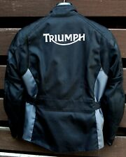 Ladies Triumph motorbike jacket. Small. Hardly used. Shoulder/elbow protection