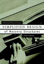 SIMPLIFIED DESIGN OF MASONRY STRUCTURES - NEW PAPERBACK BOOK