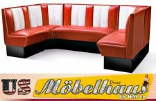 hw-240 American Diner Bench Corner Seat Furniture 50´s Retro Fiftie USA Style
