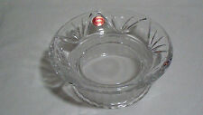 "GORHAM Poland Fine Crystal Footed Candy Nut Dish Compote Frosted Base 8"" EUC"