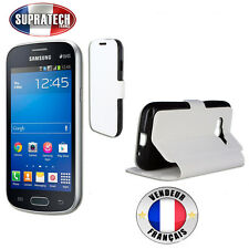 Etui Rabattable Blanc Avec Support pour Samsung Galaxy Trend 2 Lite G318