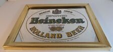 Vintage Imported Heineken Mirrored Holland Beer Sign