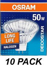 10 x 12V 50W MR16 Gu5.3 Halogen Light Lamp Globes Bulbs Dimmable OSRAM DECOSTAR